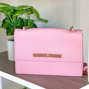 Ted Baker Pink Pebble Leather Crossbody Bag